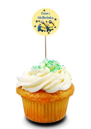 Minions Cupcake Picks/Toppers